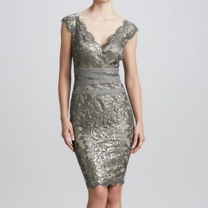 Tadashi Shoji Dress Lace and Sequin Cocktail Dress